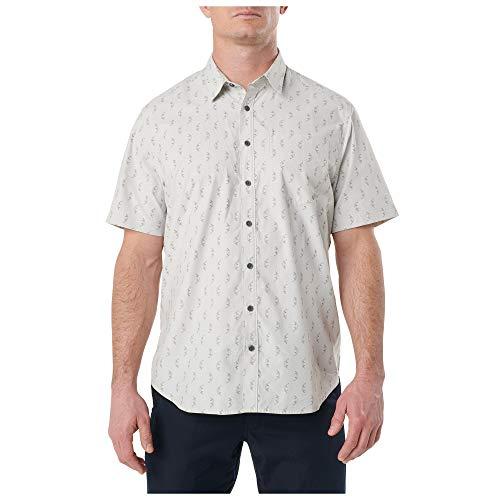 5.11 Camisa de manga corta con botones de poliéster y algodón Have A Knife Day, estilo 71376