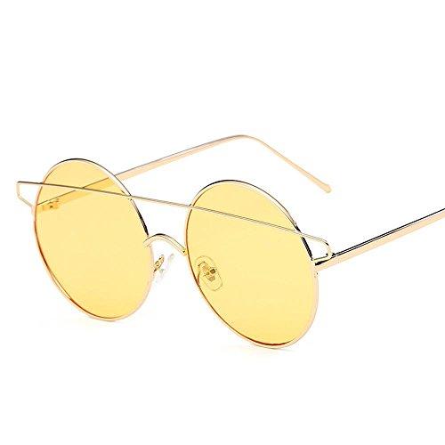 Aoligei Lunettes de soleil tendance petit démon Dame européens et américains lunettes oeil de chat G