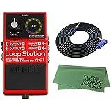 BOSS コンパクトエフェクター Loop Station RC-1 + 3m ギターケーブル VOX VGS-30+クロス セット
