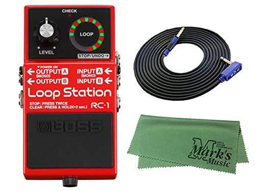 BOSS コンパクトエフェクター Loop Station RC-1 + 3m ギターケーブル VOX VGS-30+クロス セット   B077Z5P45Z