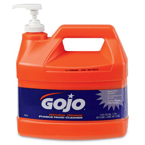 Gojo 0955 Natural Orange Pumice Hand Cleaner - 1 - Orange Soap