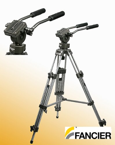 Professional 75mm Video Camera Tripod with Fluid Drag Head FT9901 by Fancierstudio