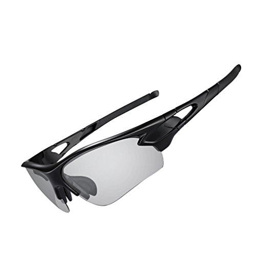RockBros Men's Photochromic Polarized Sunglasses UV Protection for Cycling Fishing - For Sunglasses Cycling Photochromic