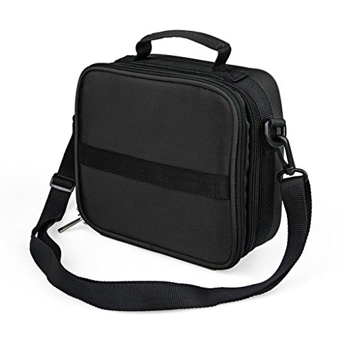 Hipiwe Shoulder Style Essential Oils Carrying Case Essential Oil Soft Travel Carrier Bag with Foam Insert for 5, 10, 15, 30 Milliliter Roller Bottle 42 Compartments Sturdy Double Zipper Black (Bottle Holder Bag Insert compare prices)