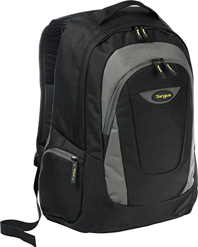 Targus Trek Backpack for 16-Inch Laptops, Black with Gray Accents (TSB193US) by Targus