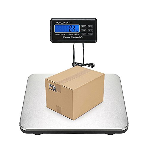 660LBS Digital Platform Scale Floor LCD AC Bench Postal Shipping Weight 300KG
