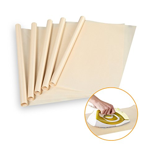 5 Pack PTFE Teflon Sheet for Heat Press Transfer Sheet Non Stick Heat Resistant Baking Mat 16 x 24