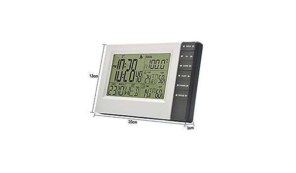 HXUJ Estación meteorológica inalámbrica Pantalla Digital Reloj ...