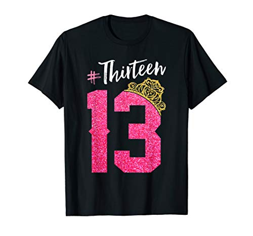 13 Years Old Official Teenager 13th Birthday Gift for Girls T-Shirt (Birthday Party For 13 Yr Old Girl)