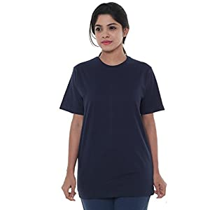 EASY 2 WEAR ® Womens V – Neck T-Shirts (Size S to 4XL) Loose and Long Fit T-Shirt
