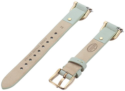 Fossil S181262 18mm Leather Calfskin Green Watch Strap