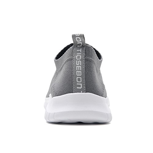 IceUnicorn Mens Trainers Slip On Lightweight Running Shoes Outdoor Breathable Sneakers Casual Walking Shoes Low Top Dark Gray L8NSPJa