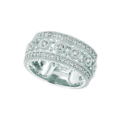 Byzantine White Gold Ring (14k White Gold Diamond byzantine Ring - 1.15ctw. Diamond)
