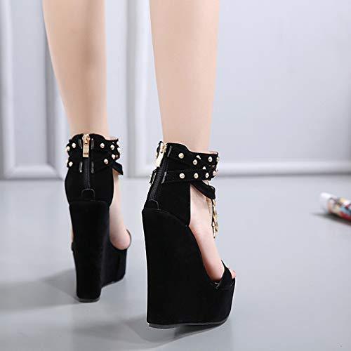 Da Di Donna sandali Donna Donna Sandalo Estivi Pelle infradito Qualità Infradito Donna Scarpe sandali Sandali Nero Sportivi sandali YqxRwf