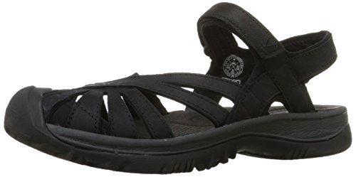 KEEN Womens Rose Leather Sandal Black/Raven