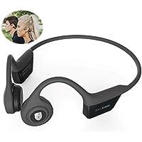 Zulu Exero Open-Ear Wireless Bone Conduction Headphones (Grey) for Running, Bicycling, Hiking, with Microphone