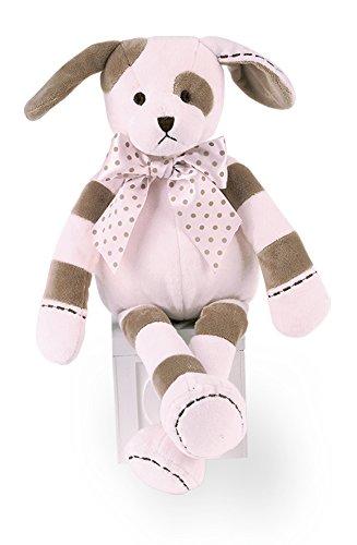 Bearington Baby Pup Plush Stuffed Animal Pink Puppy Dog, 16