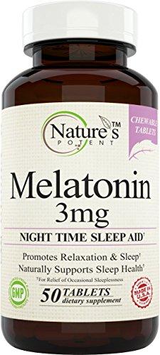Natures Potent Melatonin Supplement Chewable