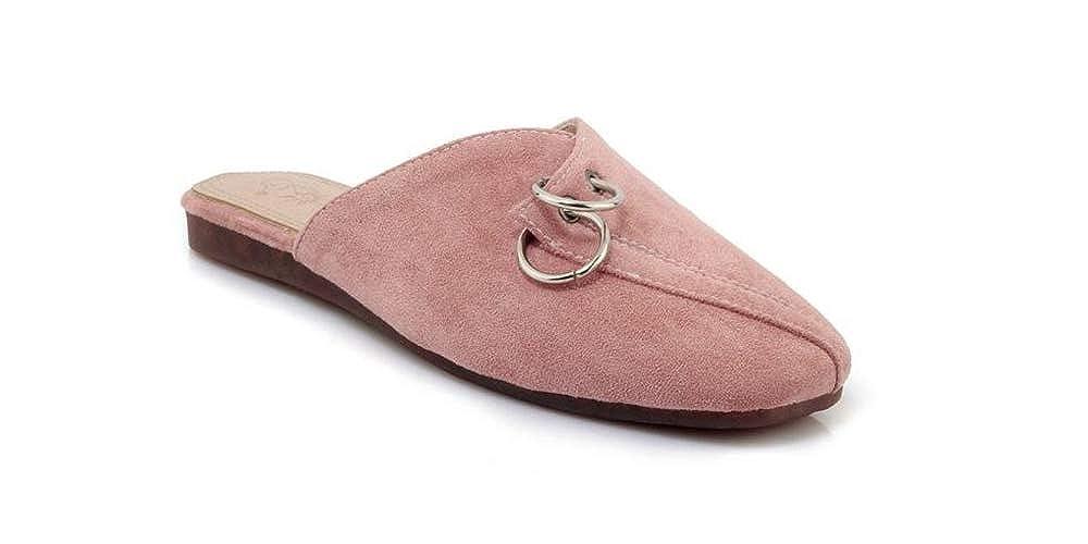 satisfied Womens Mule Slip On Loafer Slides Flat Sandal Shoes