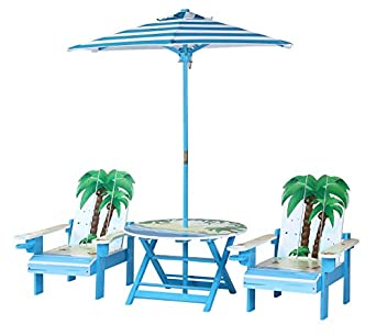 Fine Amazon Com Okids Palm Tree Table And Adirondack Chair Set Ocoug Best Dining Table And Chair Ideas Images Ocougorg
