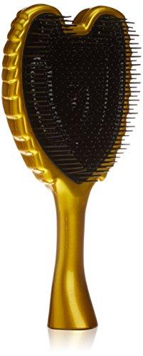 Tangle Angel Hair Brush - Detangles Wet and Dry Hair - Ergonomic Shape With Heat Resistant Antibacterial Bristles - For All Hair Types - Gold Hair