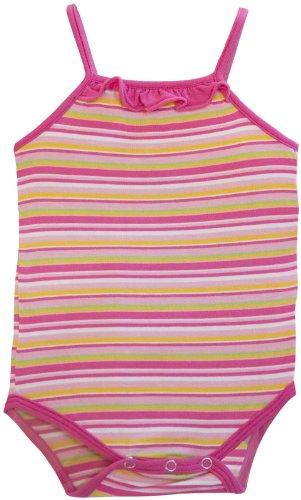 KicKee Pants Baby Girls' Print Ruffle Tank One Piece (Baby) - Island Stripe - 0-3 Months