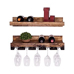 dakoda love rustic luxe floating wine shelf. Black Bedroom Furniture Sets. Home Design Ideas