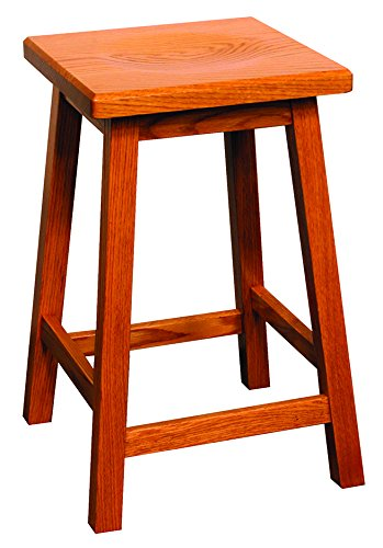 (Wooden Bar Stool, Counter Stool, Mission, 24