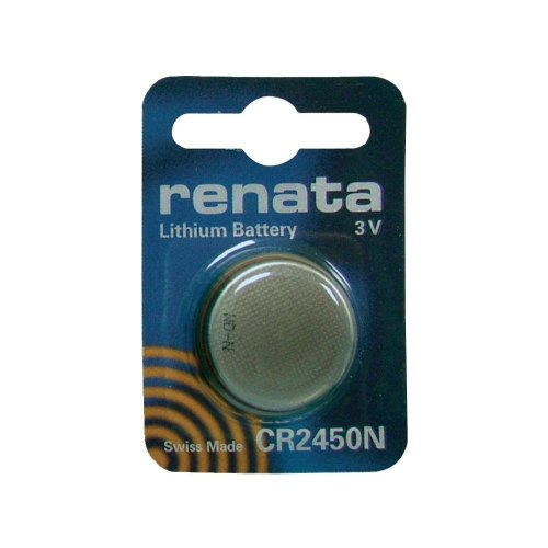 CR2450N Renata Single Cell , 3 Volt Lithium Manganese Dioxide Battery. COMP-33N
