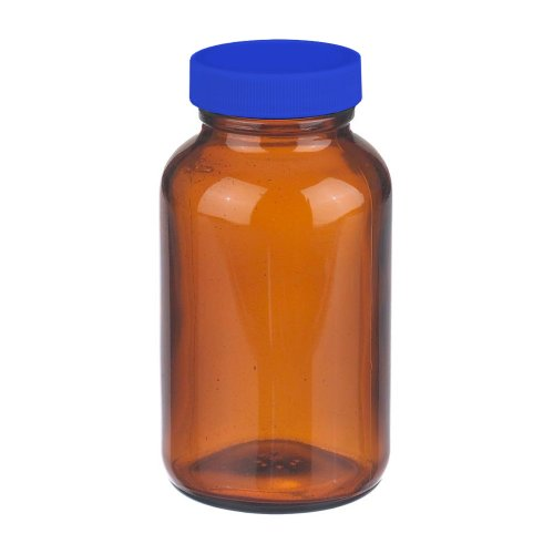 I-Chem Brand 141-0500 Amber Glass 500mL 100 Series Type III Wide Mouth Jar, with PTFE-Lined Polypropylene Closure (Case of 12) (719 Glasses)