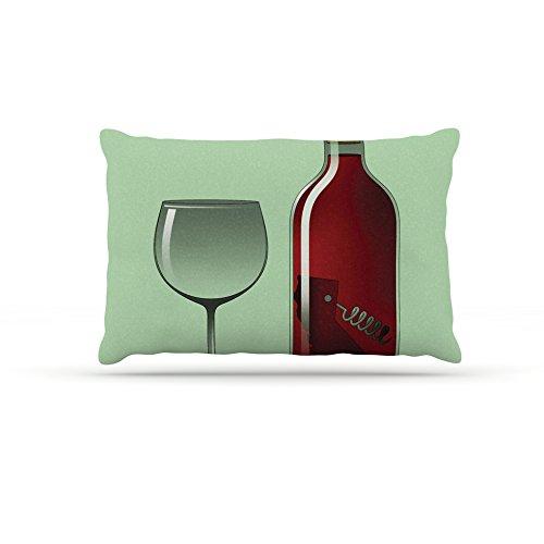 30 by 40\ Kess InHouse Thomas Fuchs California Wine  Green Red Fleece Dog Bed, 30 by 40