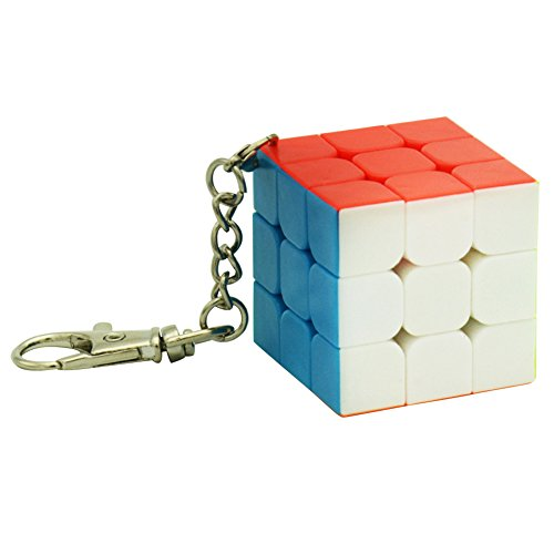 RONSHIN Super Cute Small Cube Key Ring 33 & 2 2 Cylindrical Trihedron Cube Keychain Toy Gift for Birthday Xmas Festival 33