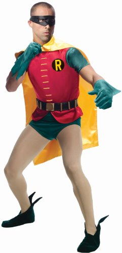 Costumes Adults Robin (Rubie's Costume Grand Heritage Robin Classic TV Batman Circa 1966, Multicolor, Standard)