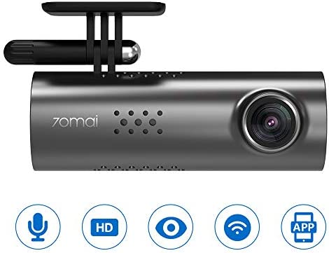 70mai Smart Dash Cam 1S Wi-Fi with 1080P Full HD 1 2.9 Inch Sony CMOS 130 Wide Angle Emergency Recording, APP Control Dashboard, Car Camera Recorder with Night Vision, G-Sensor
