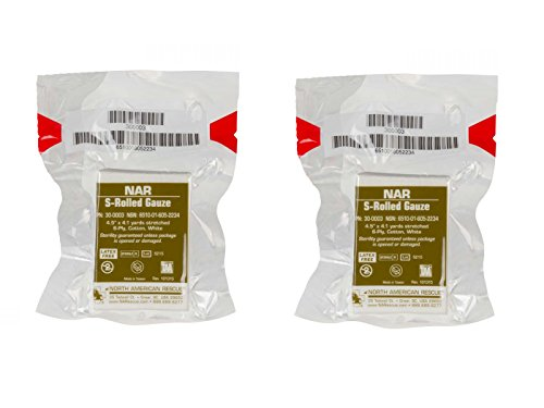 NAR S Rolled Gauze 2 Pack by North American Rescue