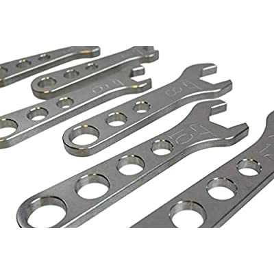 ICT Billet 6 piece Billet Aluminum Wrench Set 3 4 6 8 10 12 AN Fittings Thread Lightweight Ergonomic Compact Handle Designed & Manufactured in the USA 551465: Automotive