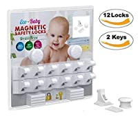 ✔ THE STRONGEST AND MOST DURABLE LOCKS IN THE MARKET    These ABS baby magnetic safety locks use extremely strong 3M adhesive tape so they attach firmly without leaving marks.    Extra strong magnets work for most cabinets and drawers up to 2 inch...