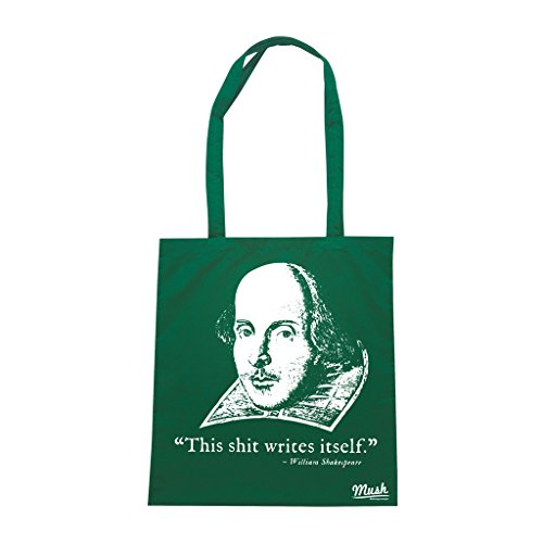 Borsa SHAKESPEARE DIVERTENTE - Verde Bottiglia - FAMOSI by Mush Dress Your Style