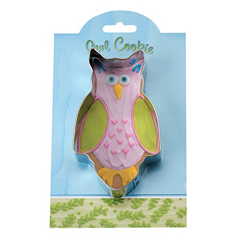 (Owl Cookie and Fondant Cutter - Ann Clark - 4.9 Inches - US Tin Plated)