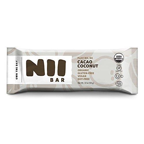 Cacao Coconut - Organic, Vegan, Gluten-Free, Non-GMO Nutrition Bar by Nii Bar by Nii Bar
