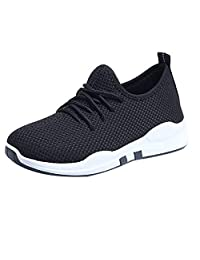 Sengei Women Walking Shoes Mesh Breathable Comfy Lace Up Sneakers Lightweight Outdoor Gym Training Shoes