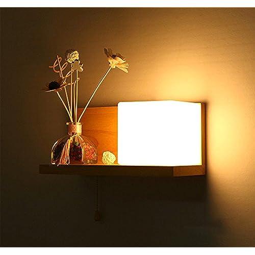 Moderne Minimaliste Classique bois Verre Luminaire Applique ...