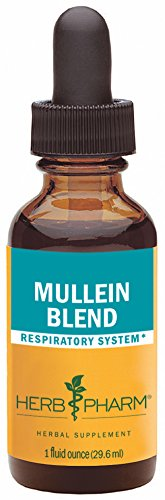 Herb Pharm Certified Organic Mullein Blend Extract for Respiratory System Support - 1 Ounce - Herbal Extract Blend