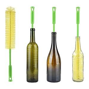 ALINK 17 Extra Long Bottle Cleaning Brush Cleaner For Washing Narrow Neck Beer, Wine, Kombucha, Thermos, Nalgene, Carafe, Yeti, Swell, Brewing Bottles