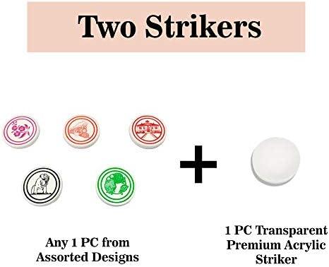 Carrom Coin Set of 24 Coins Sheesham Wood Champion Carrom Coins Free Striker