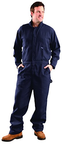 OccuNomix G904NNB-2X Premium Nomex Flame Resistant Coverall HRC 1, 4.5 oz, Navy Blue, 2X-Large ()