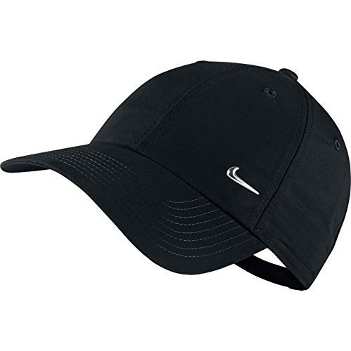 Amazon.com  Nike Metal Swoosh Black Unisex Adult Baseball Cap   Hat ... af77be3f7dc7