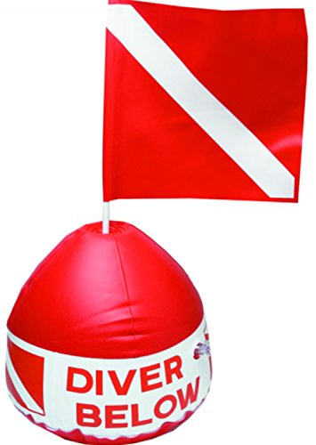 RED BUOY FLOAT AND FLAG (Inflatable Dive Float)