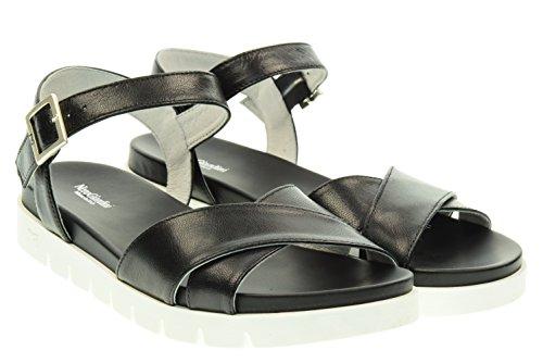 BLACK JARDINES mujer sandalias planas P615741D / 100 Nero