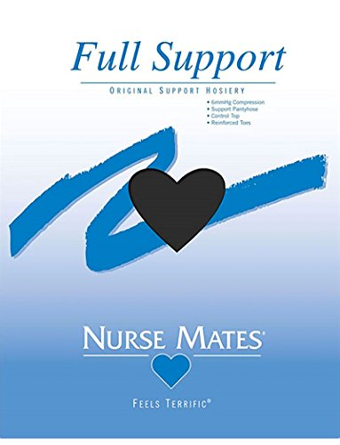 (Nurse Mates Women's 6 Mmhg Feels Terrific Full Support Pantyhose Hosiery X-Large Black )